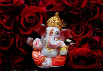 Cute Shree Ganeshji HD Wallpaper