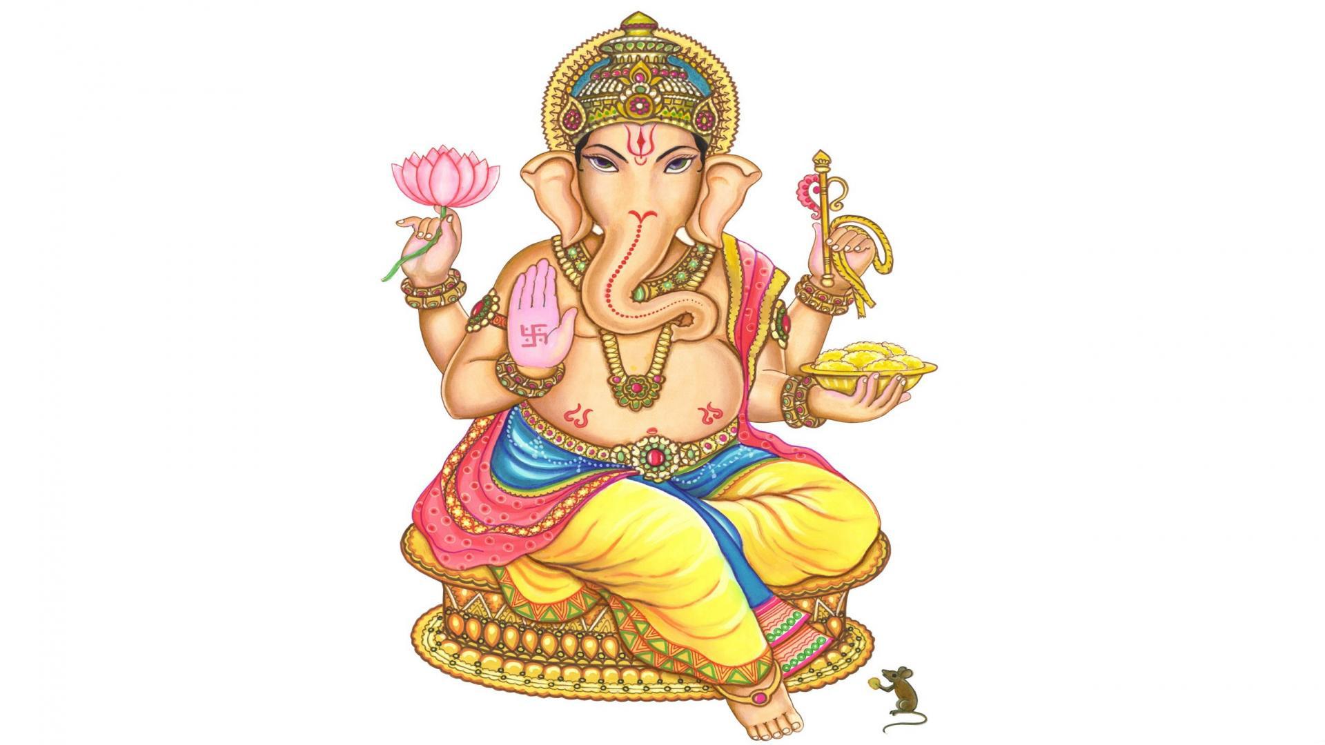 Ganeshji Hd In White Background