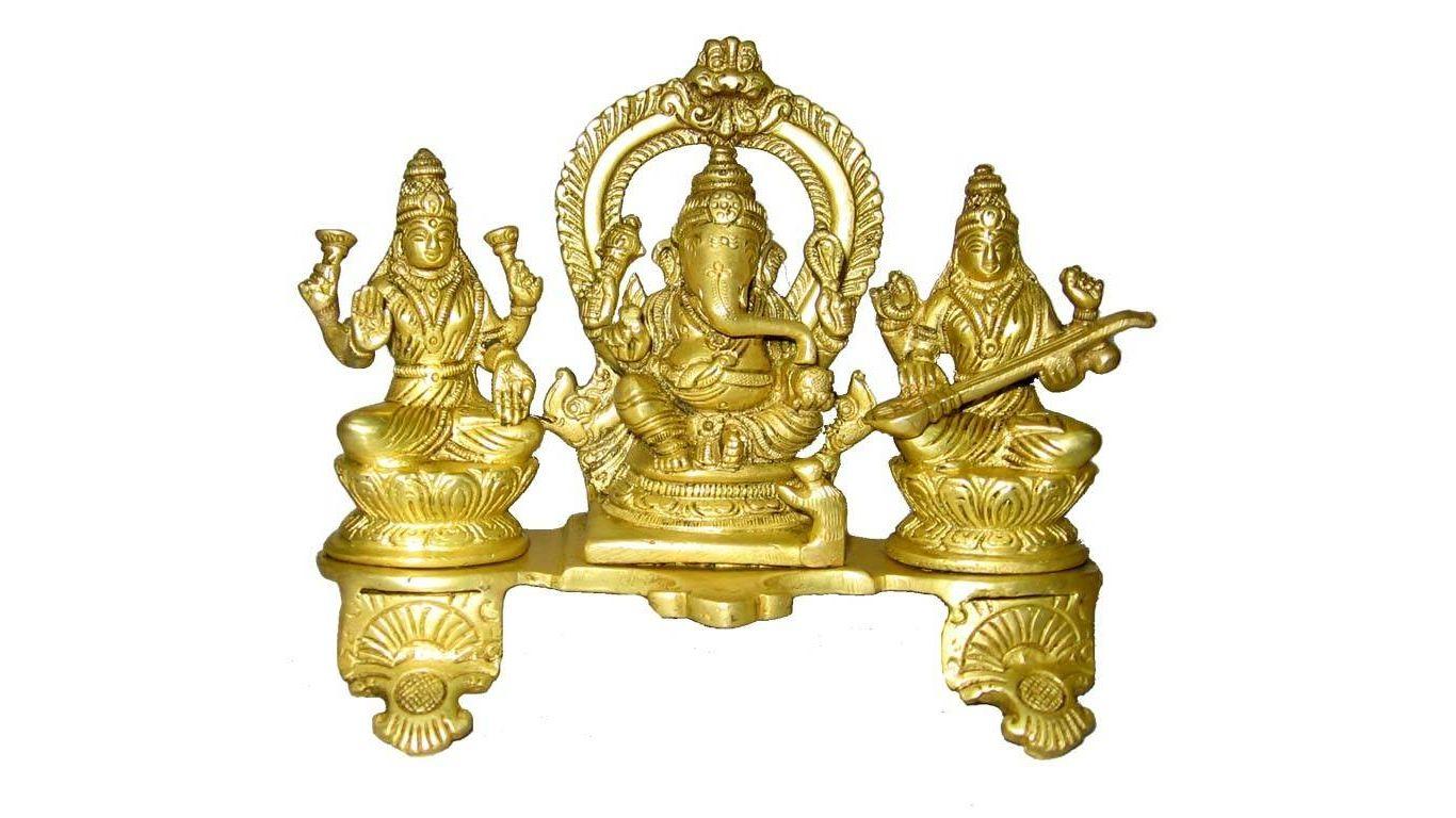 Shree Ganesha Laxmi Saraswati Happy Diwali