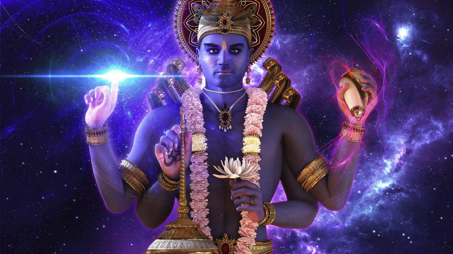 3d Lord Vishnu 1920×1080