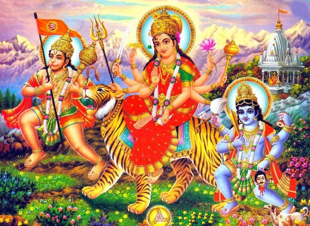 Ambe Maa With Hanuman Ji