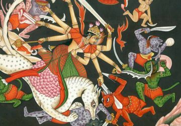 Beautiful Paintings Of Maa Durga