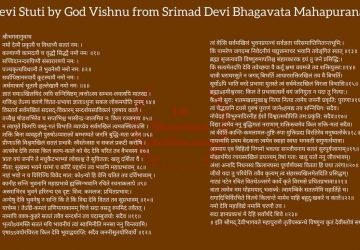 Devi Stuti By Lord Vishnu