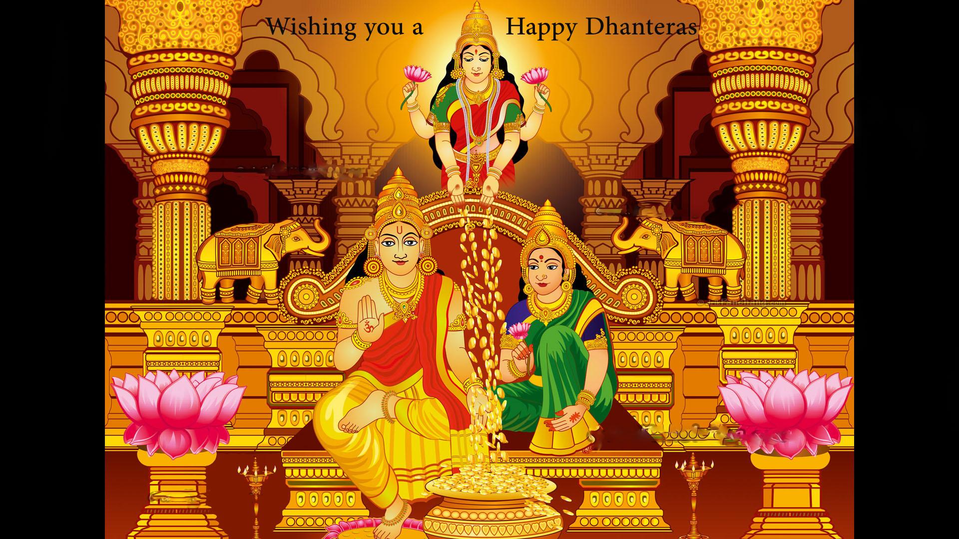 Dhanteras Laxmi Kuber Wallpaper Image