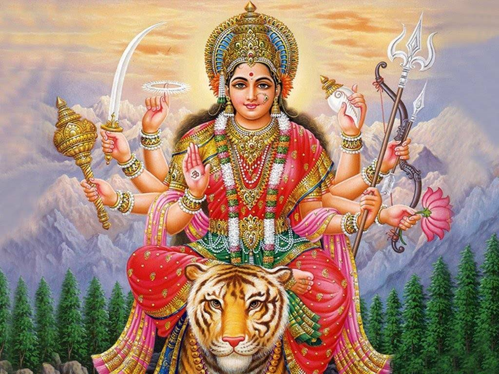 Goddess Durga 3d Image