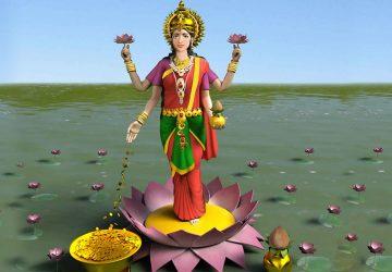 Goddess Lakshmi 3d Images