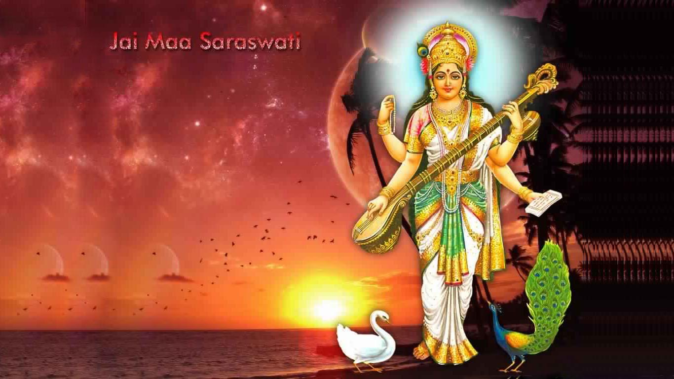 Goddess Saraswati Image Hd