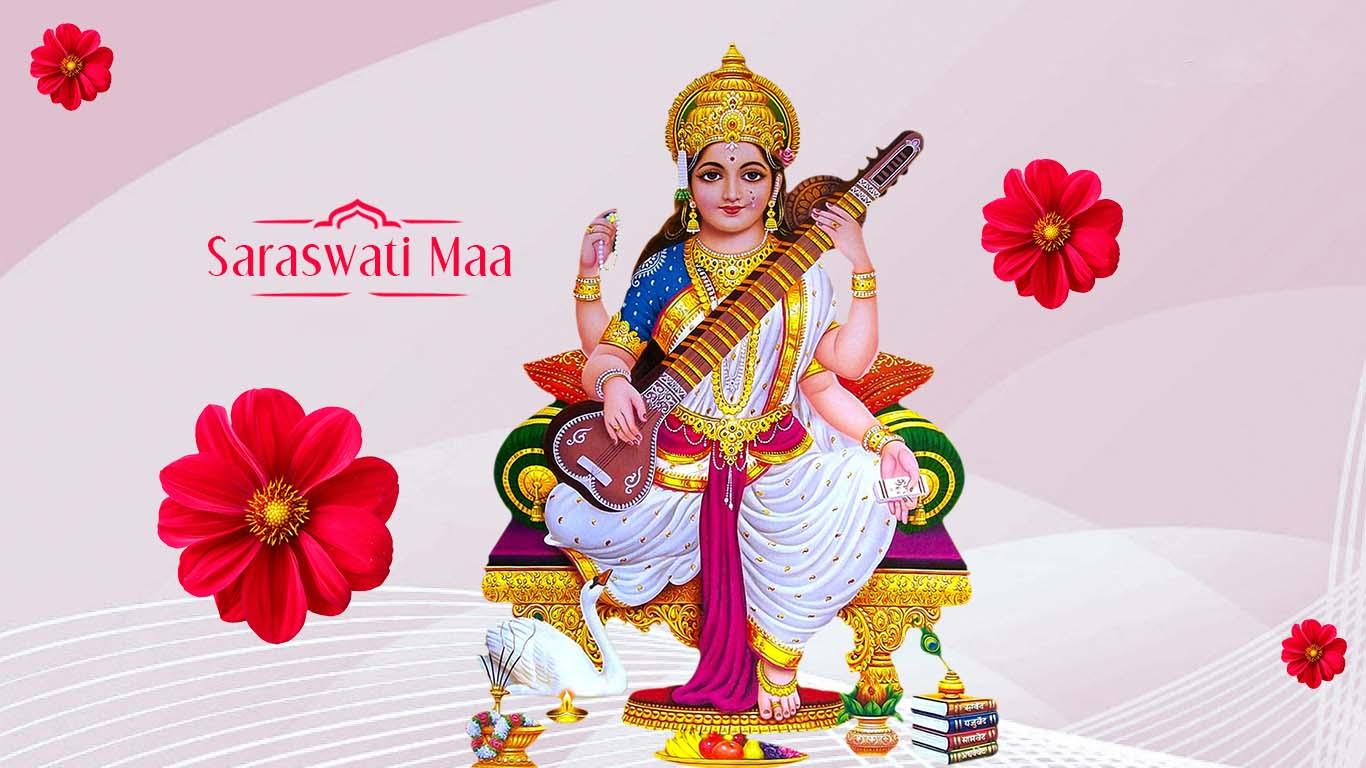 Goddess Saraswati Wallpaper Desktop