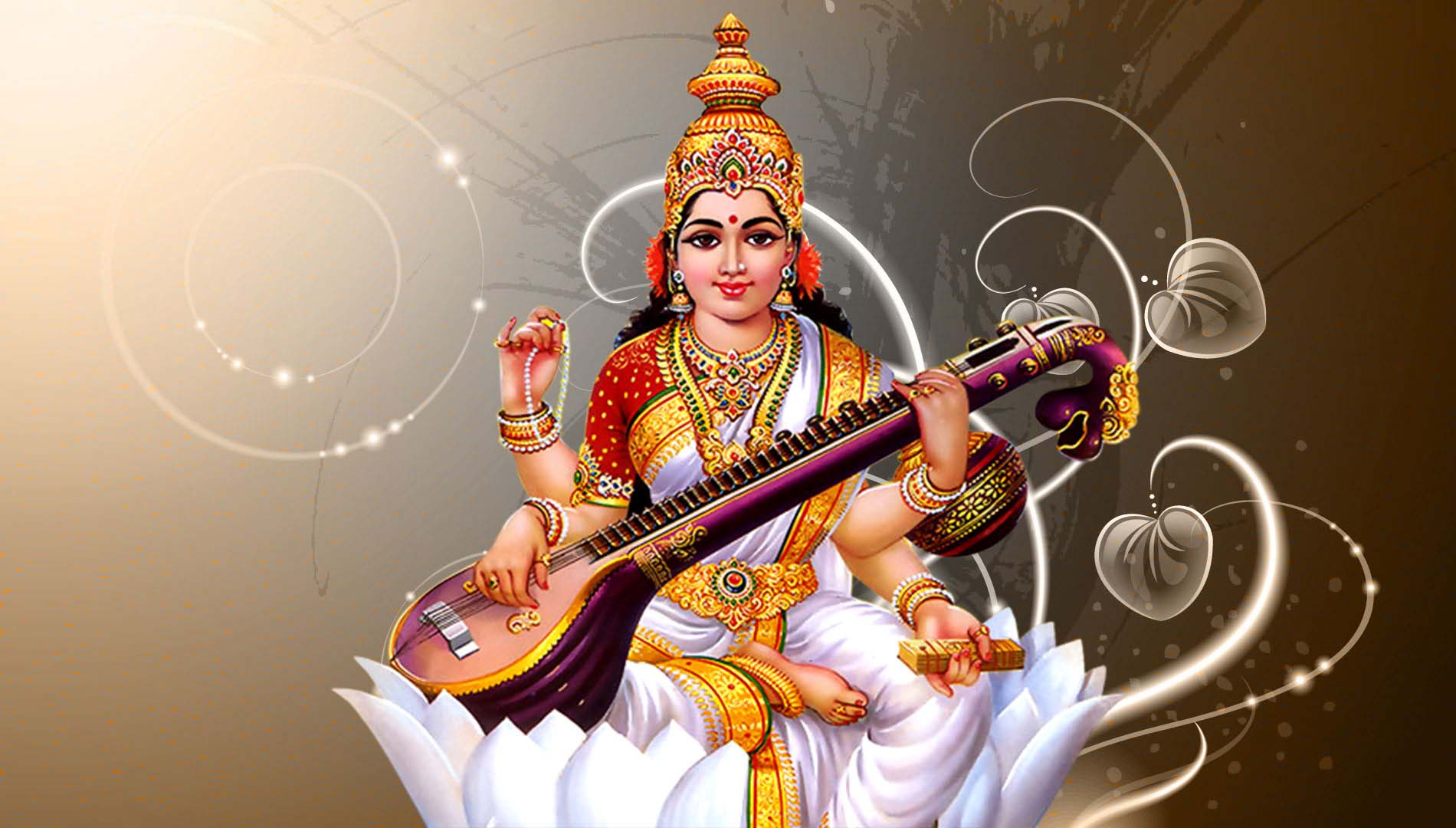 Goddess Saraswati Wallpaper Free Download