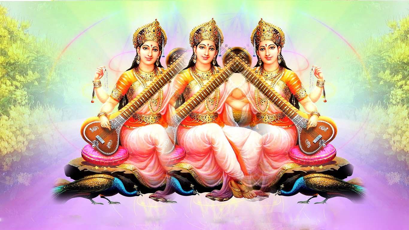 Goddess Saraswati Wallpapers For Desktop