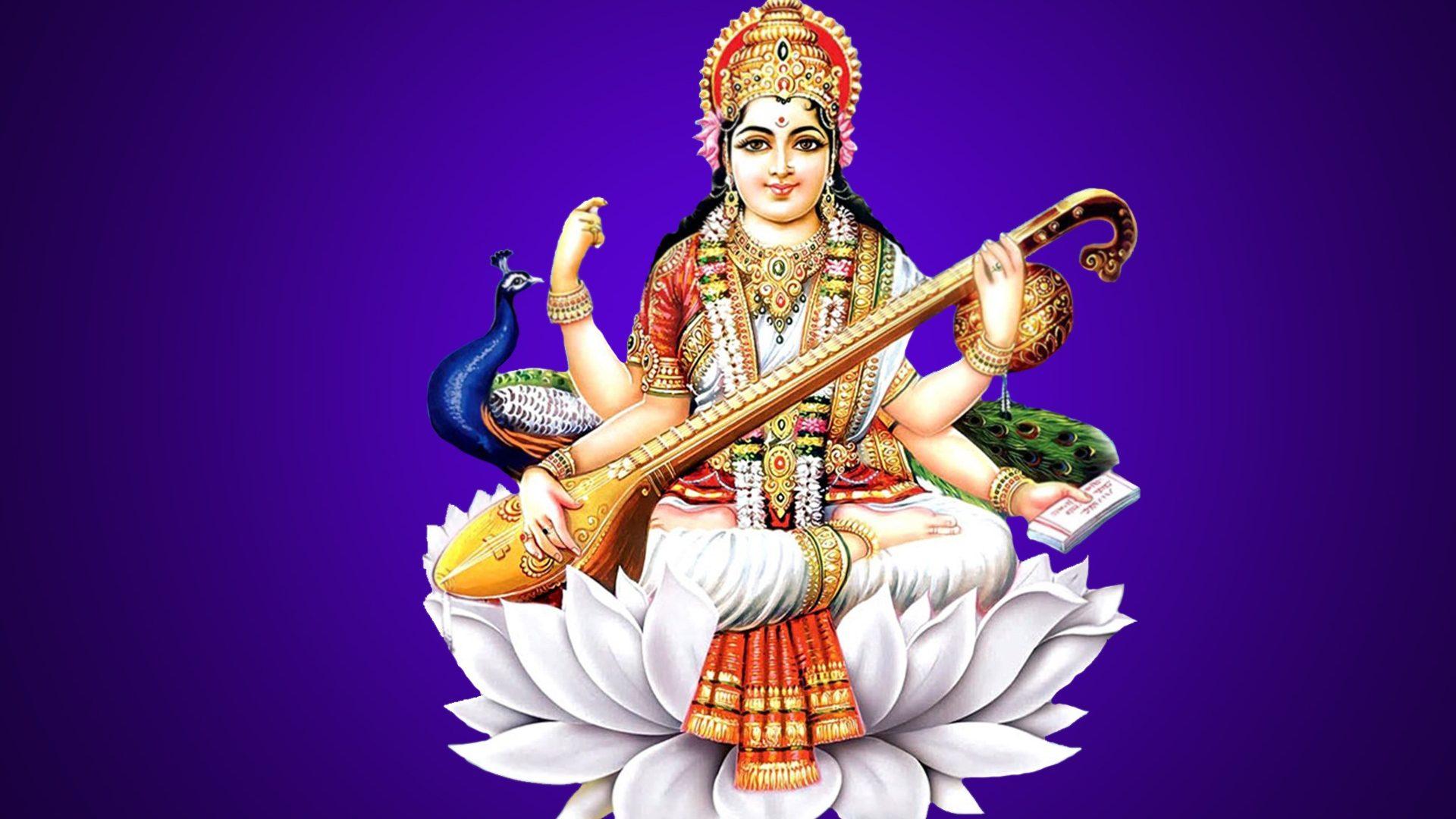Goddess Saraswati Wallpapers Hd