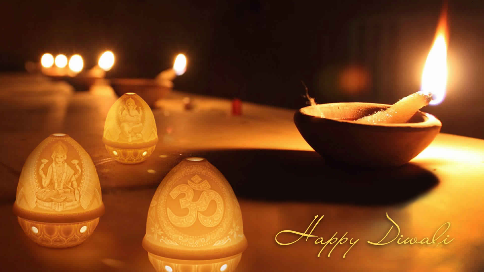 Greetings And Good Wishes Of Diwali Hd Desktop
