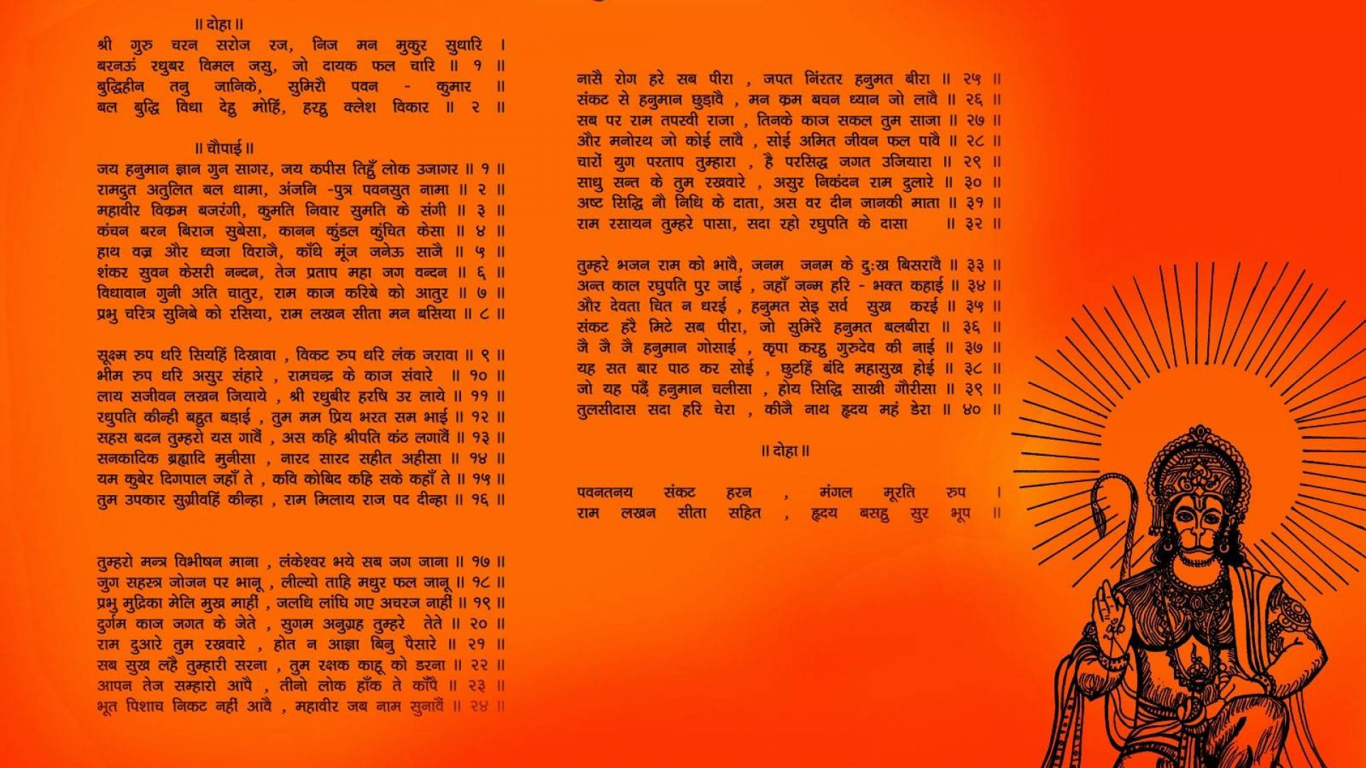 Hanuman Chalisa Aarti Hd Wallpapers For Desktop 1920×1080
