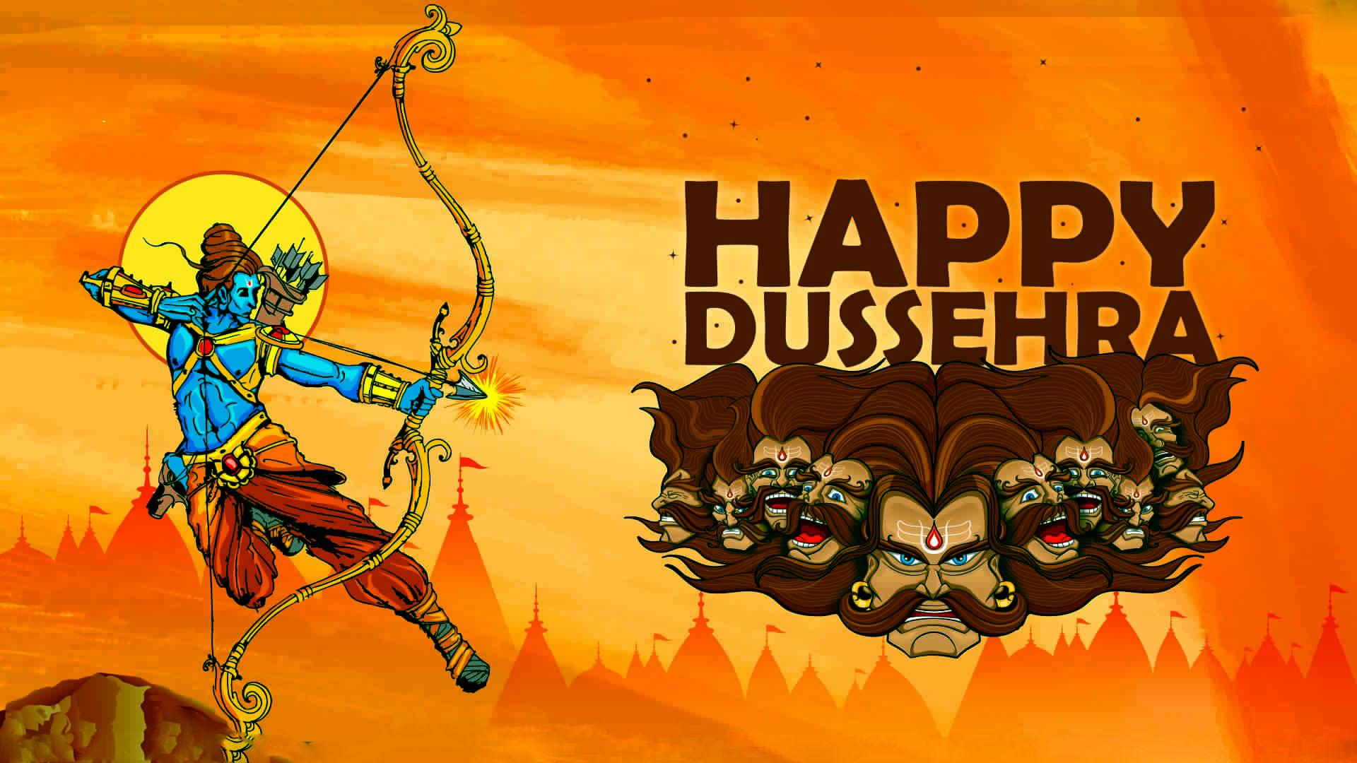 Happy Dussehra 3d Image