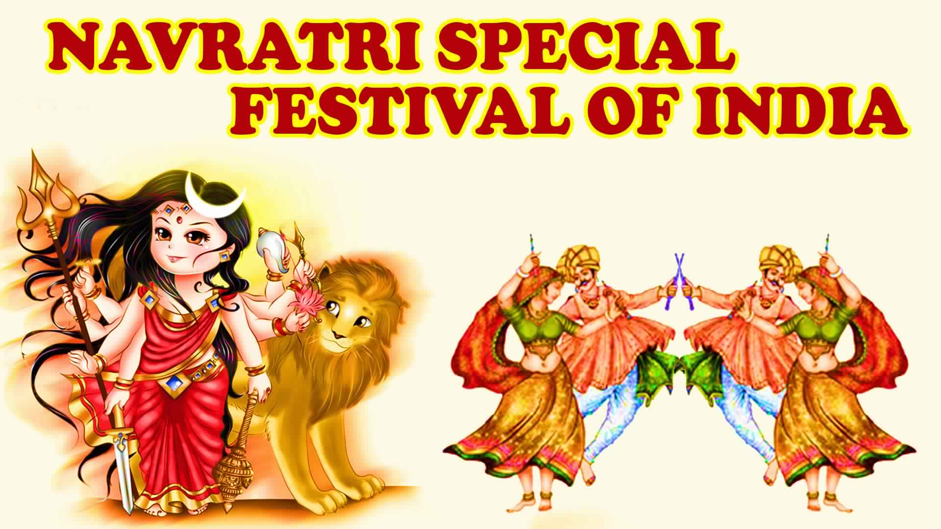 Happy Navratri Wallpapers 3d