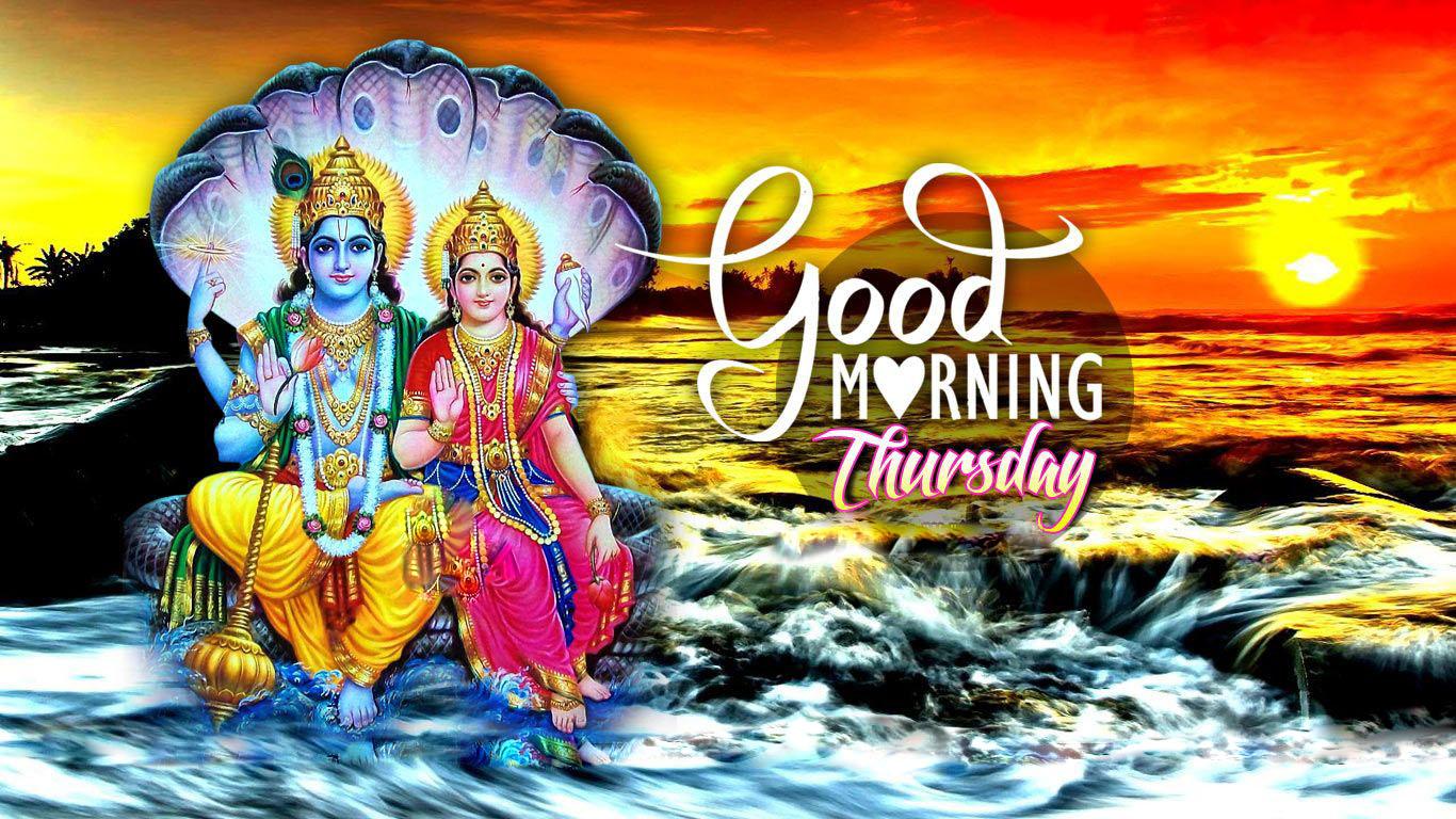 Image Of Lord Vishnu And Goddess Lakshmi