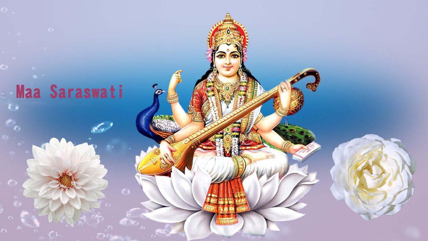 Jai Maa Saraswati Wallpaper Hindu Gods And Goddesses
