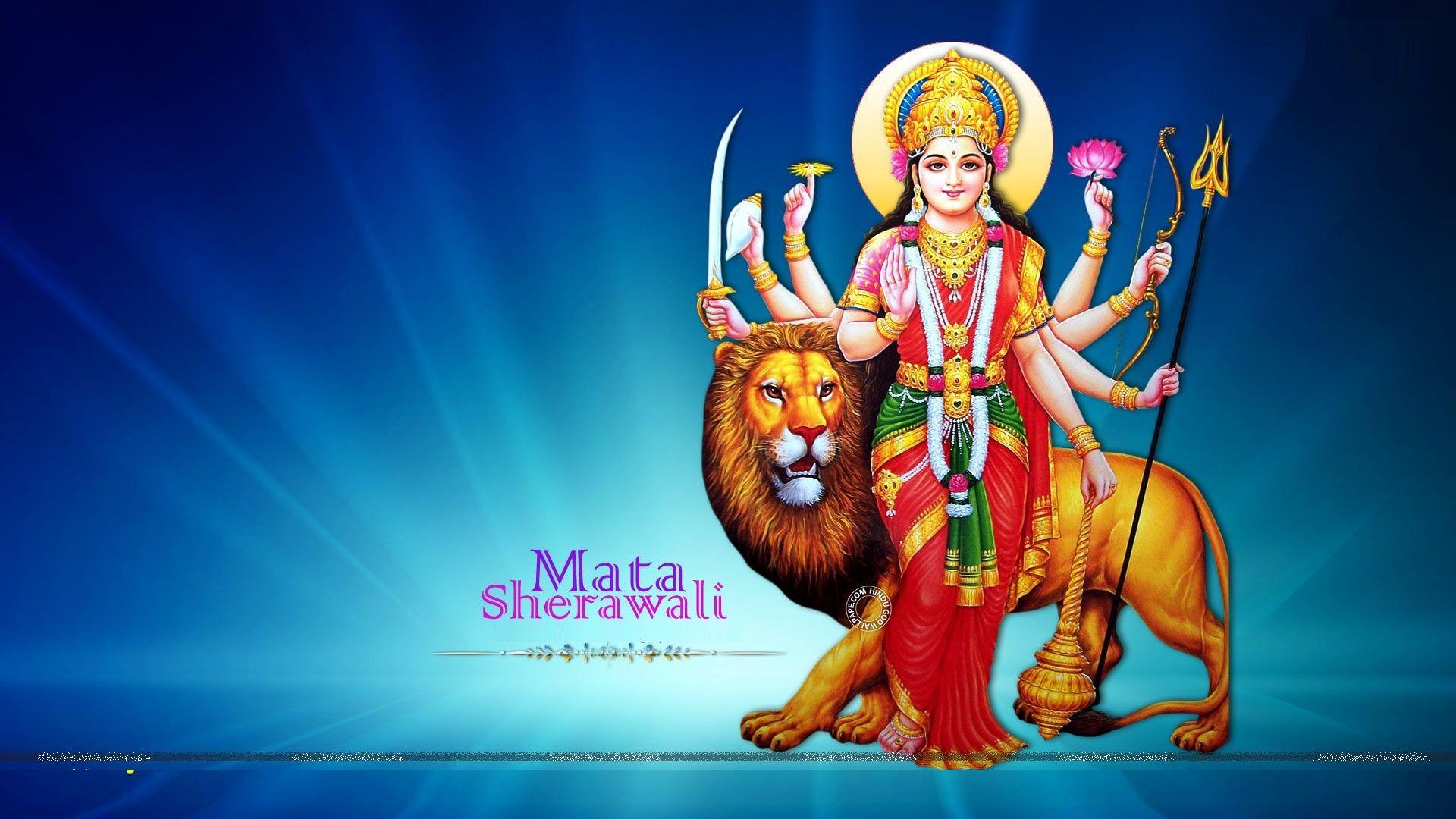 Jai Mata Di Goddess Durga Desktop Wallpaper Festivals