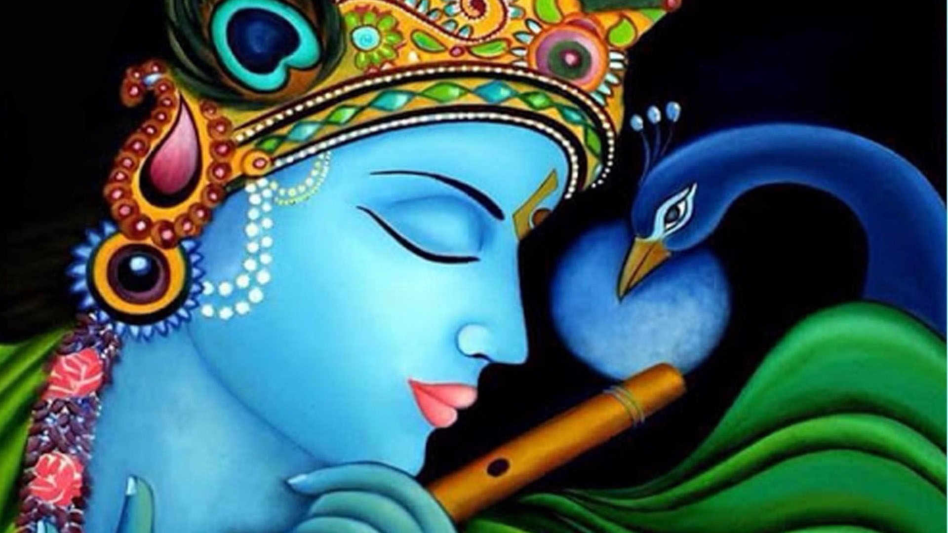 Krishna Eye Catching Wallpaper Animated Photo