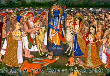 Krishna Govardhan Hd Photo Image