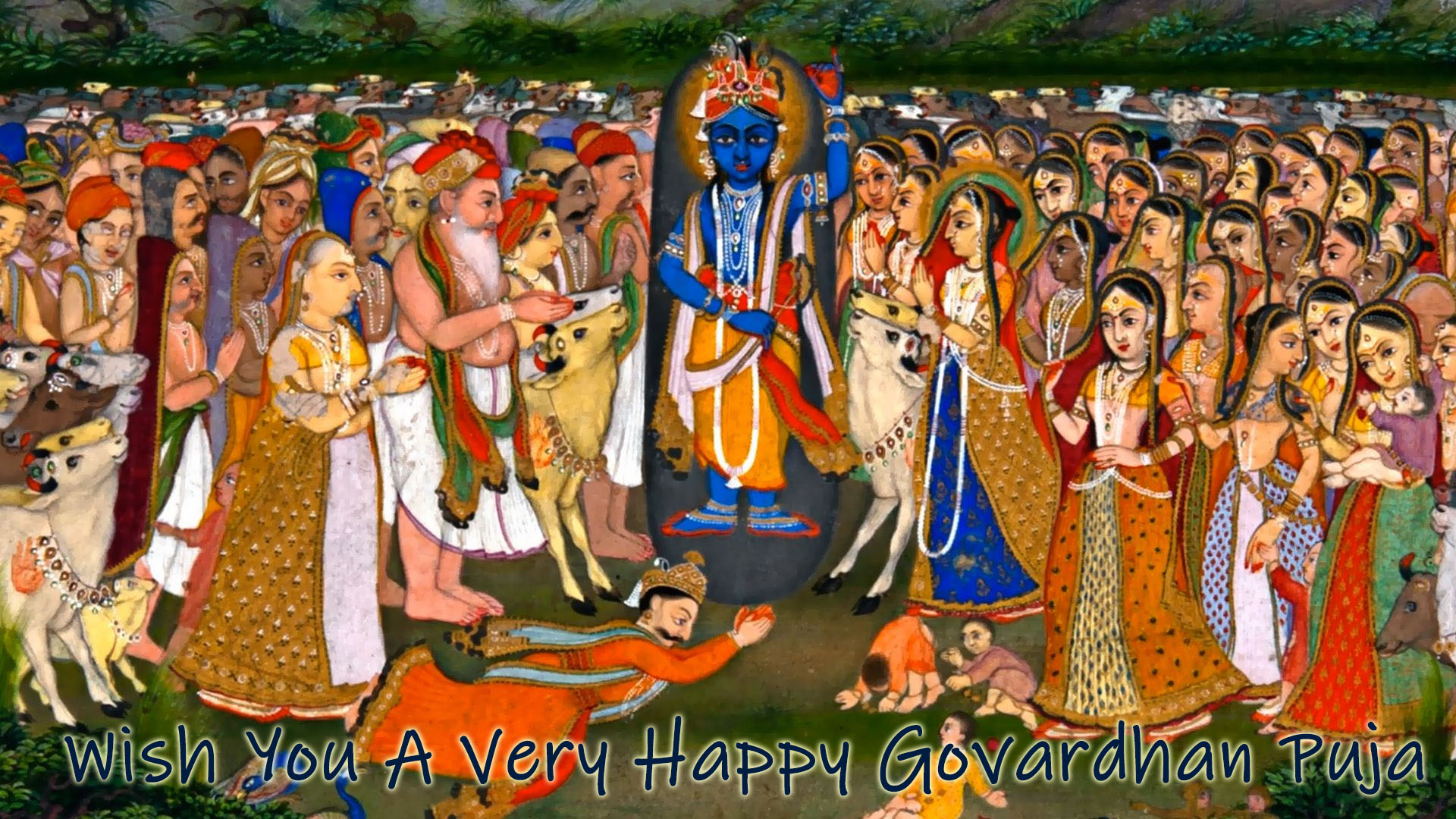 Krishna Govardhan Hd Photo Image