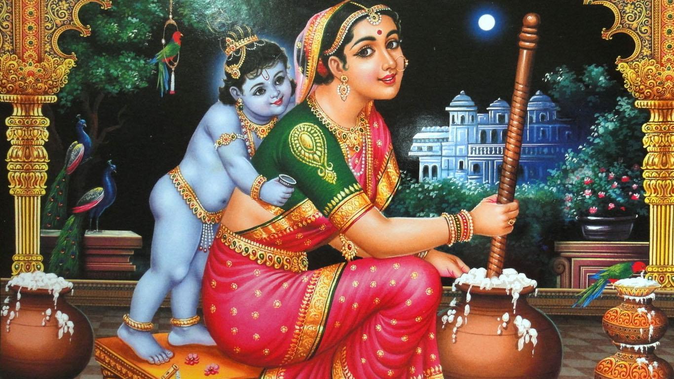 Krishna With Yashoda Maiyya Images