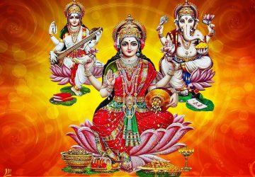 Laxmi Ganesh Saraswati Full Hd Wallpaper