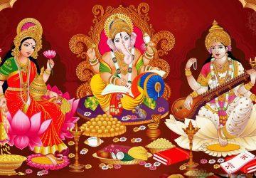 Laxmi Ganesh Saraswati Wallpaper For Mobile