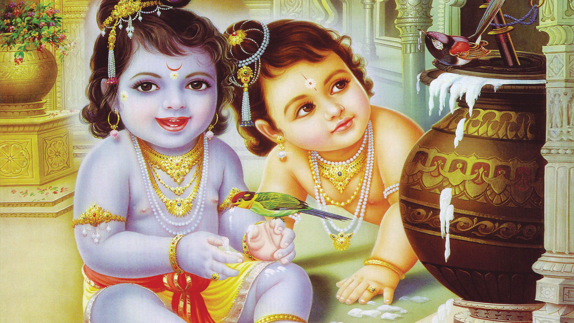 Little Krishna Balarama Images