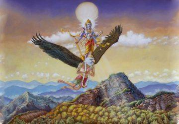 Lord Vishnu On Garuda Photo