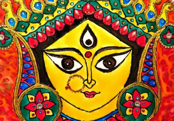 Maa Durga Face Painting
