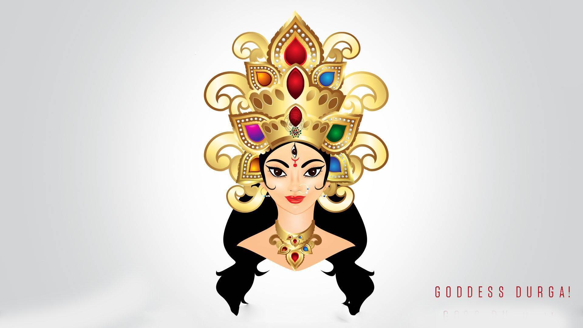 Maa Durga Face Sketch