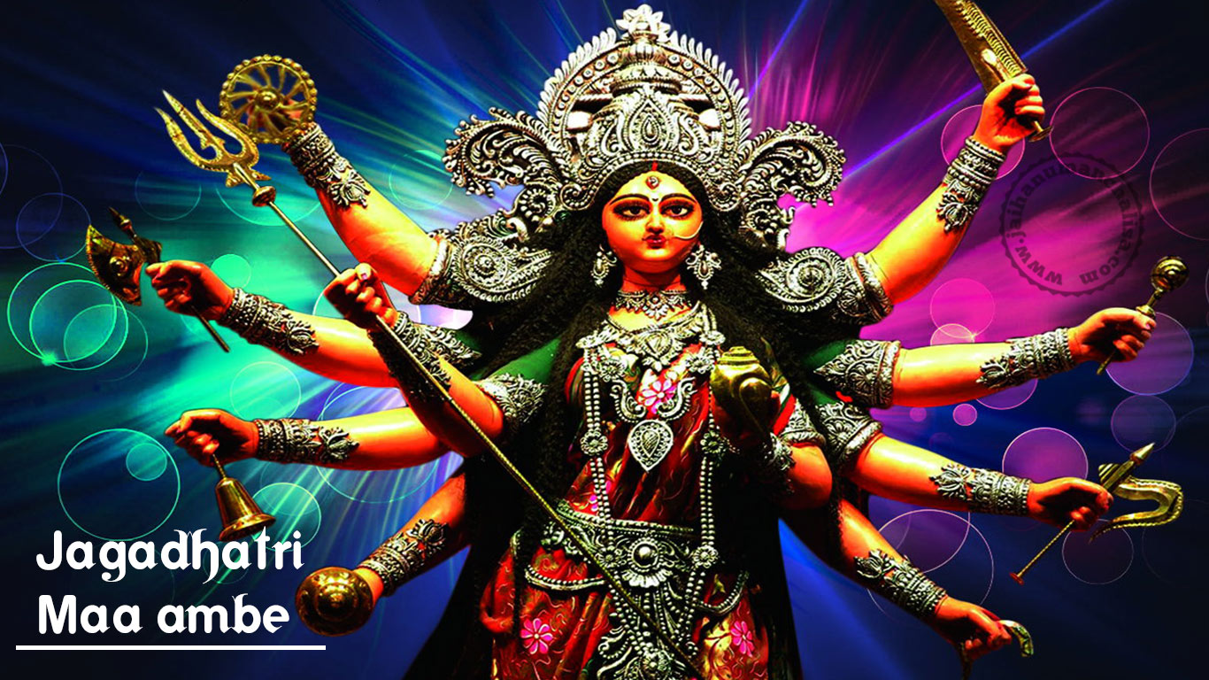Maa Durga Hd Wallpaper 1080p For Desktop Goddess Maa Durga