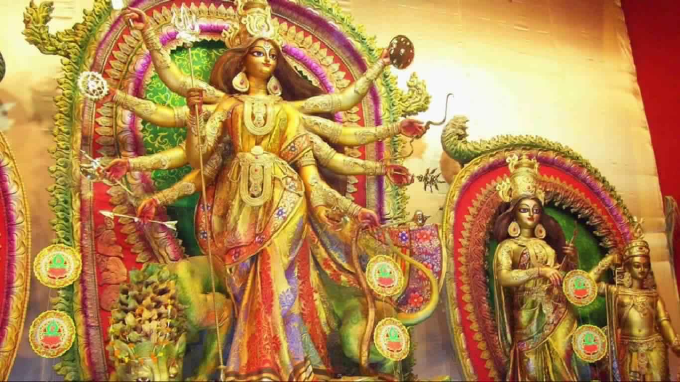 Maa Durga Painting Wallpapers