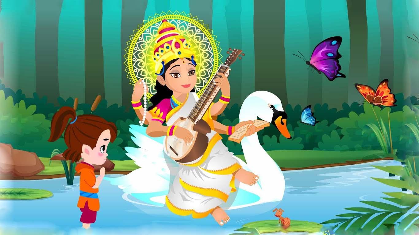 Maa Saraswati 3d Images
