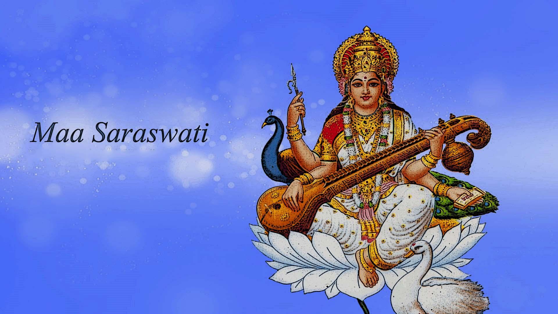 Maa Saraswati 3d Wallpaper 2017