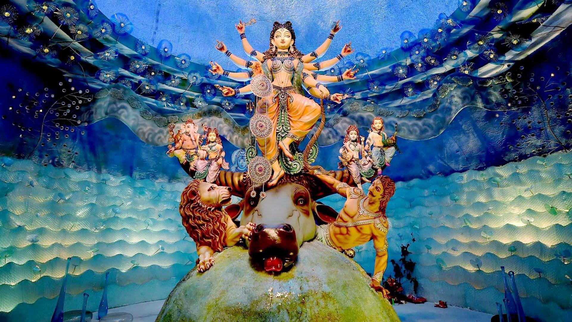 Modern Art Of Maa Durga