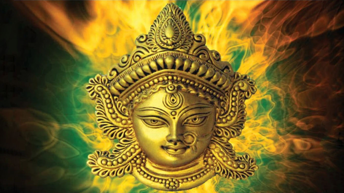 Painting Of Durga Face
