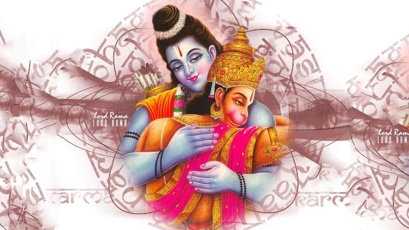 Ram Hanuman Milan Hd Wallpaper