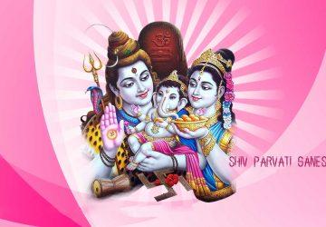 Shiv Parvati Ganesh Hd Wallpaper