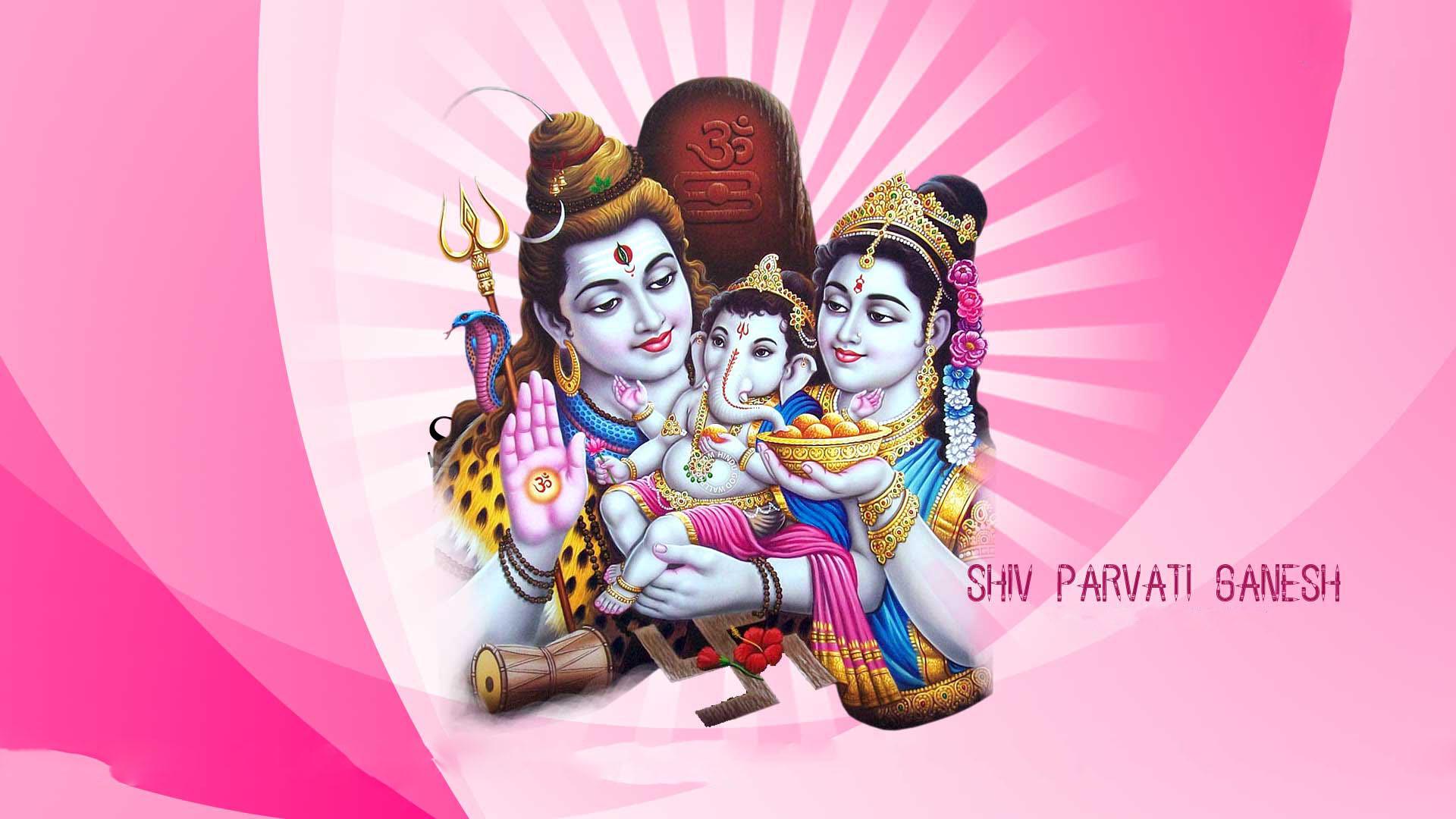 shiv parvati ganesh hd wallpaper hindu gods and goddesses