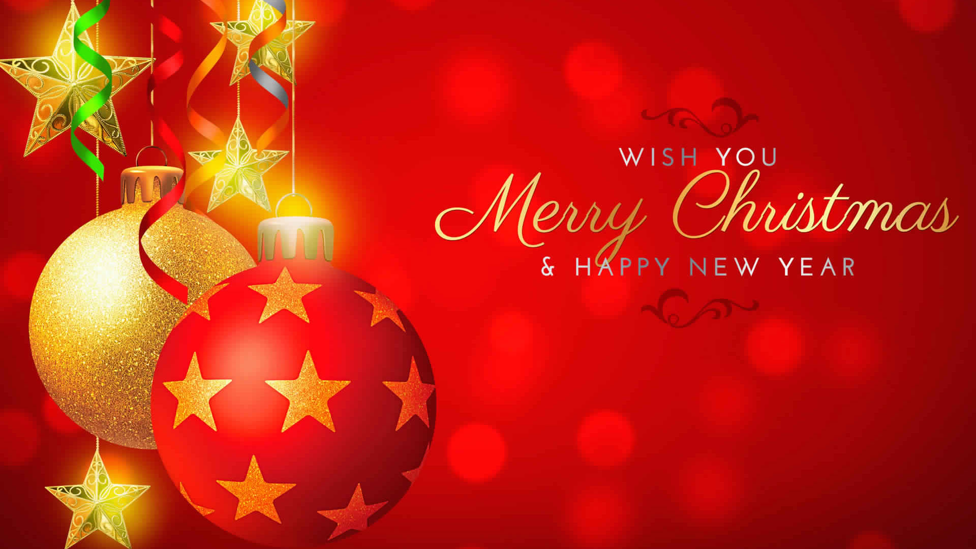 Free Christmas And Happy New Year Background Hd Wallpaper Download