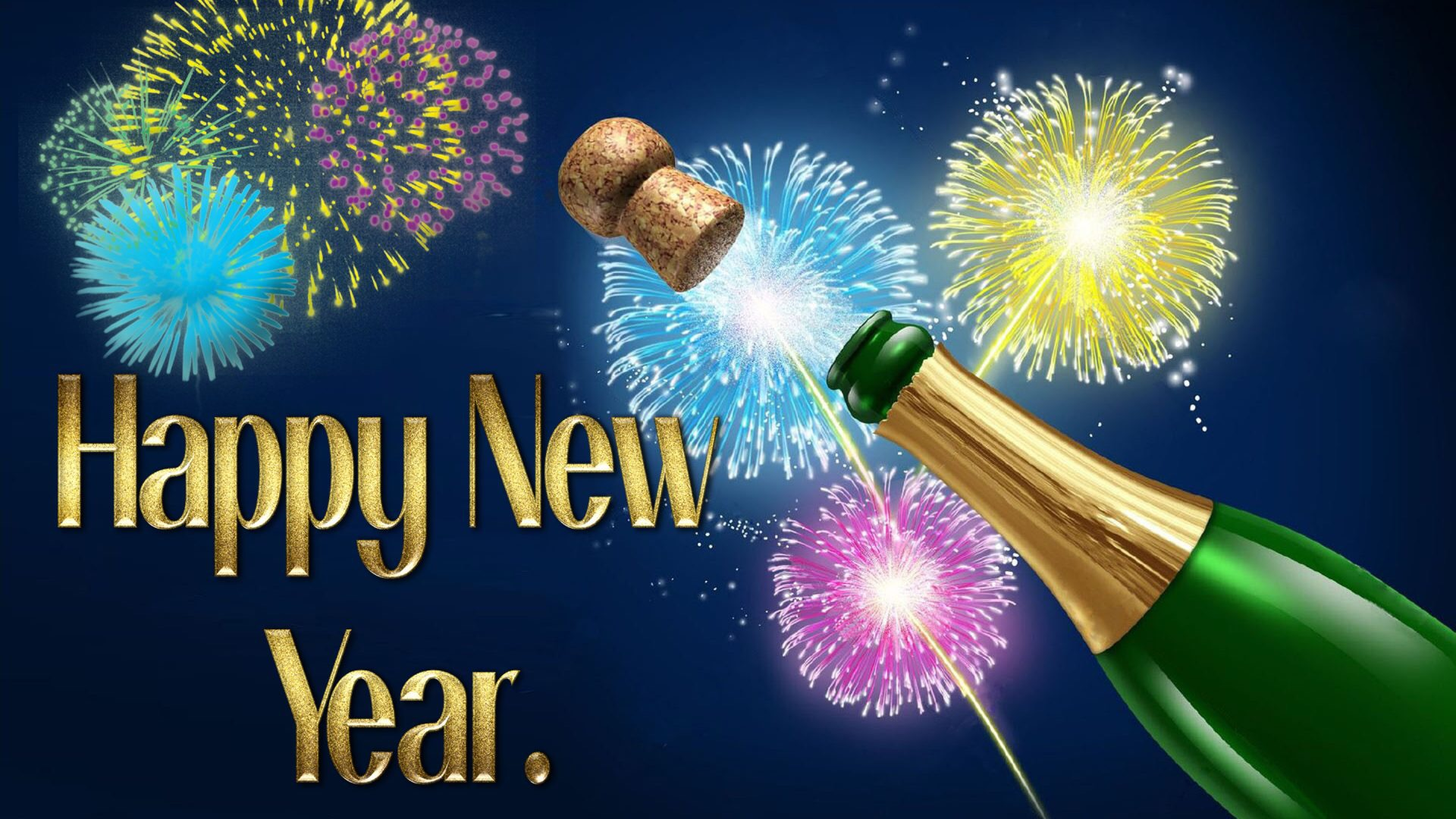 Free Hd Happy New Year Animated 3d Wallpapers Download 1920×1080