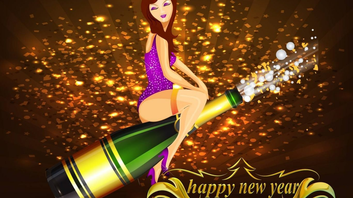 Happy New Year Full Hd 1366×768