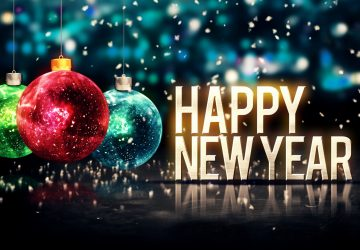 Happy New Year Ornament Hd Wallpaper 1080p Free Download