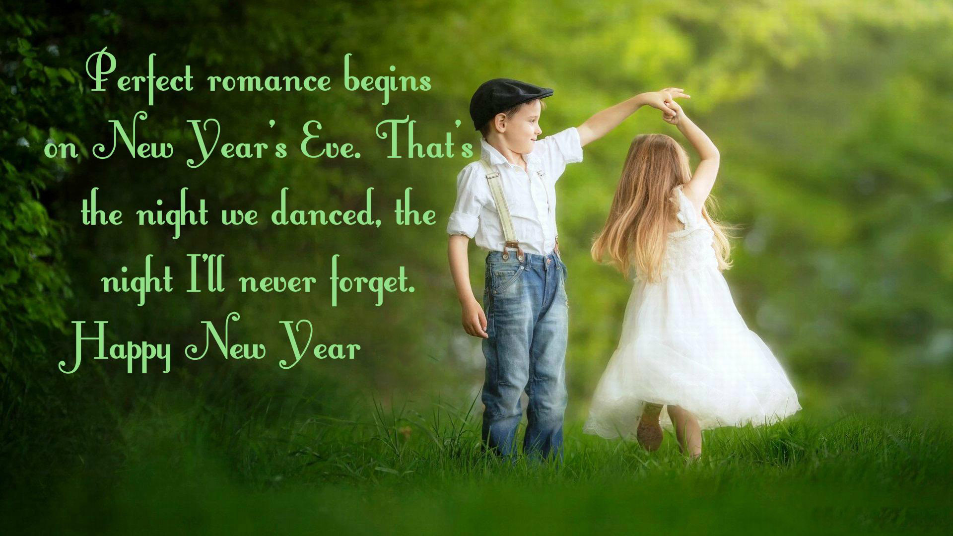 Happy New Year Wishes For Love Romantic Wallpaper
