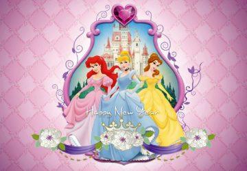 Heroines Of Disney Happy New Year Image 1366×768
