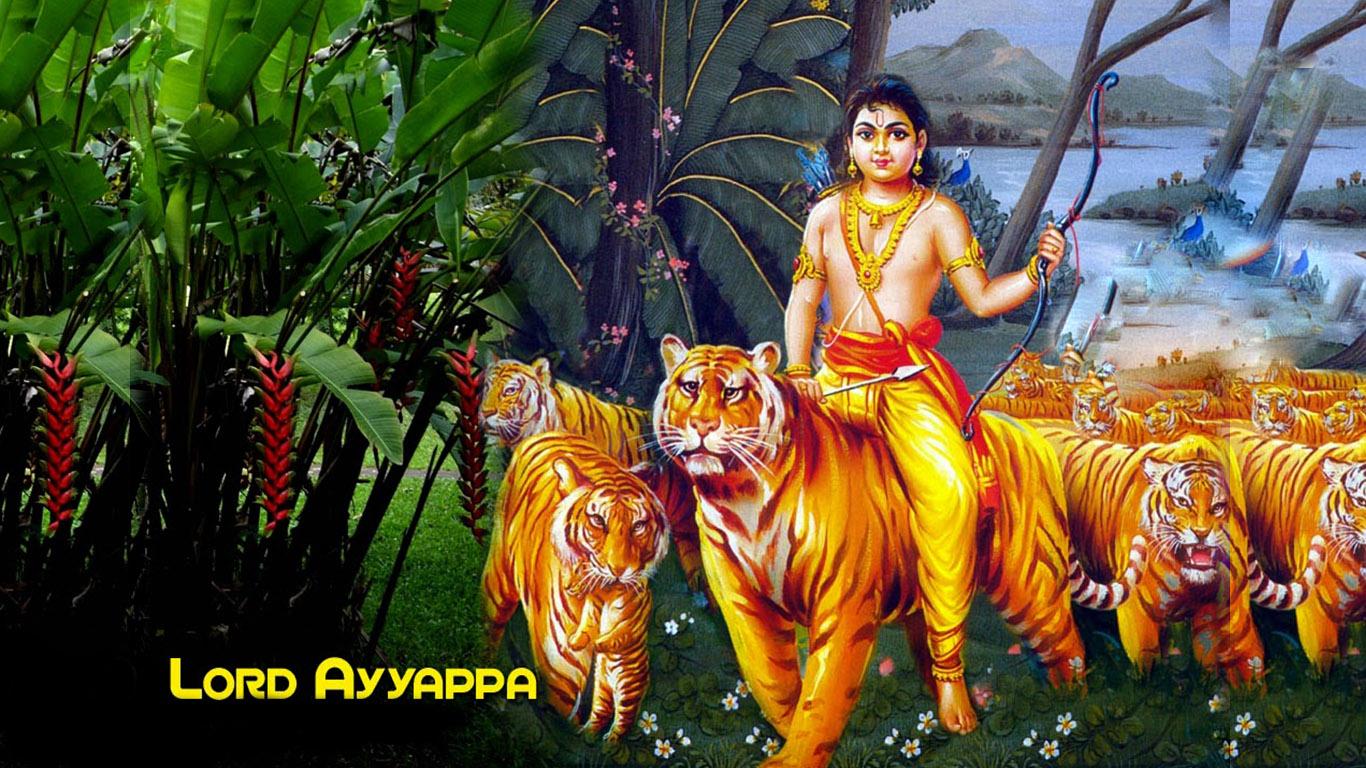 Lord Ayyappa Swamy Tiger Wallpapers Hindu Gods And Goddesses
