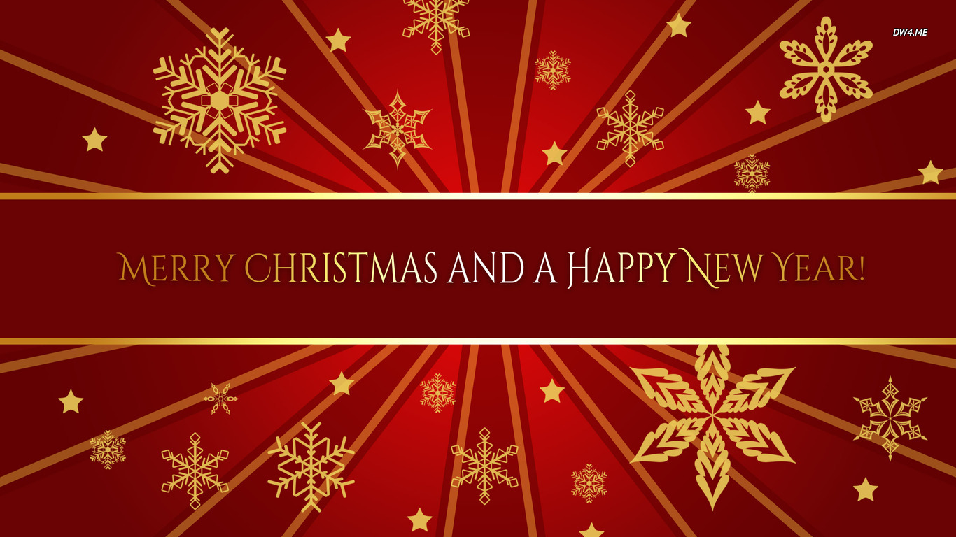 Merry Christmas And Happy New Year 1366×768 Holiday Wallpaper Images