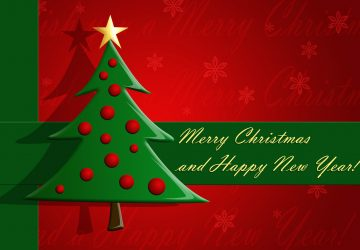 Merry Christmas And Happy New Year Tree Wishes Wallpaper Image